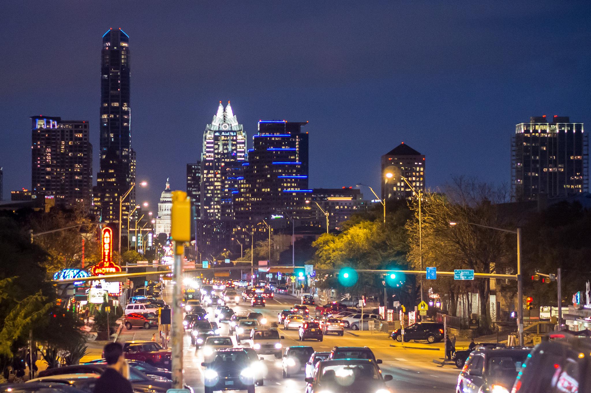 Austin at night. Photo by Sergey Galyonkin https://www.flickr.com/photos/sergesegal