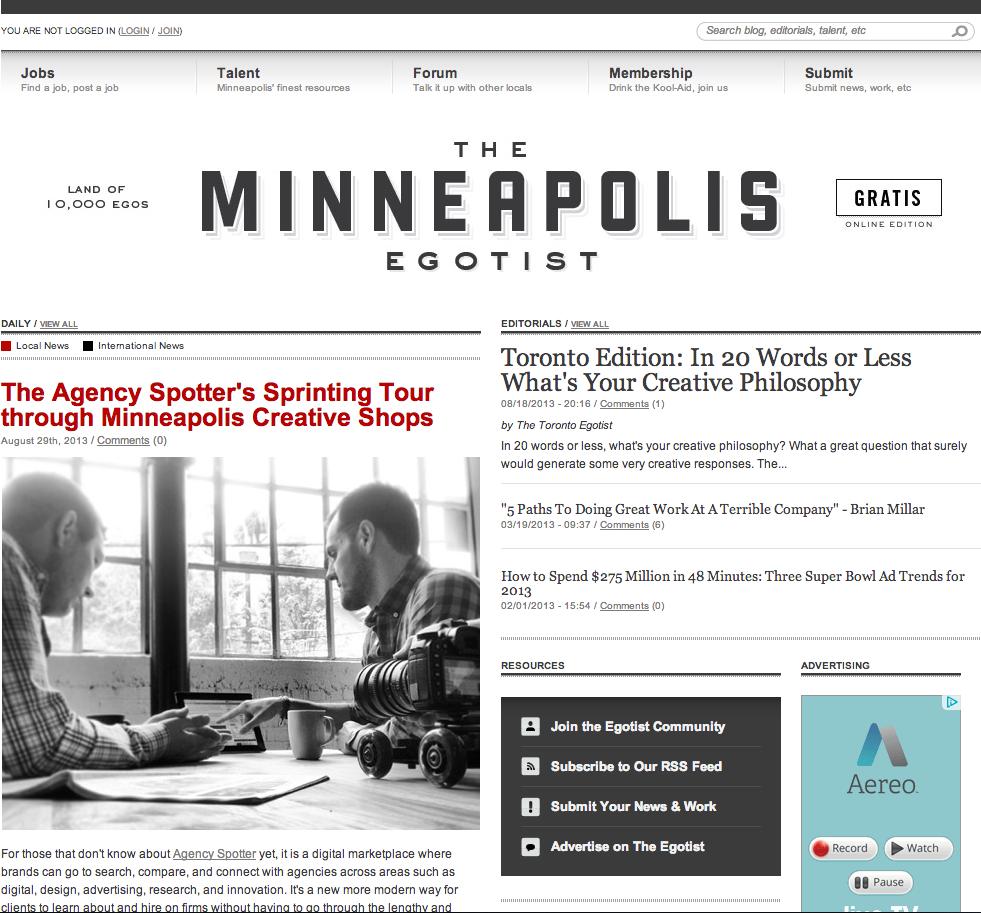 Discovering top agencies in Minneapolis